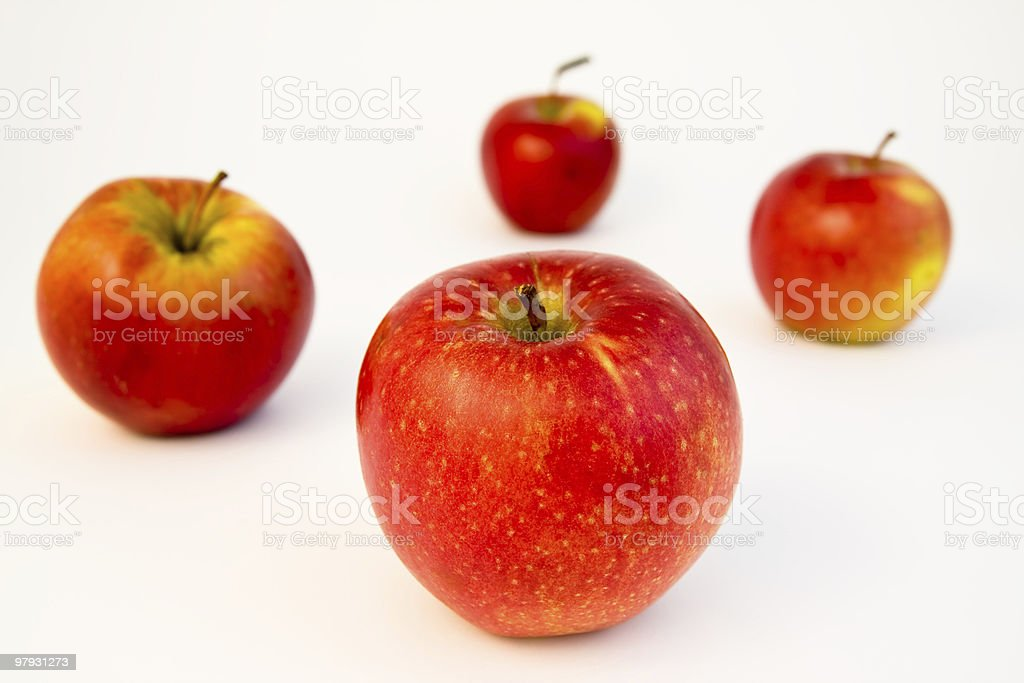 apples on white royalty-free stock photo