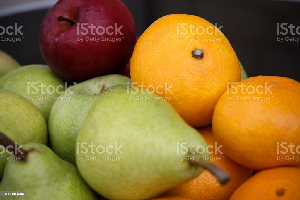 Apples, oranges and pears - Royalty-free Agriculture Stock Photo