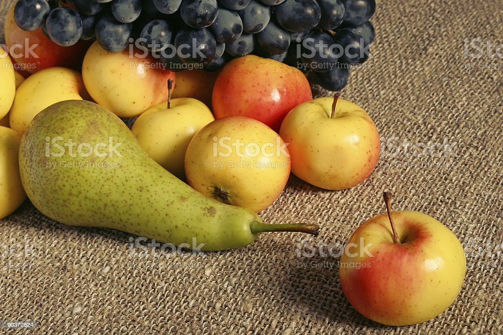 Apples, pear and grapes royalty-free stock photo