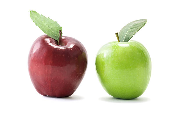 Apples Two apples (Red Delicious and Granny Smith) on white background. Click link below for: red delicious apple stock pictures, royalty-free photos & images