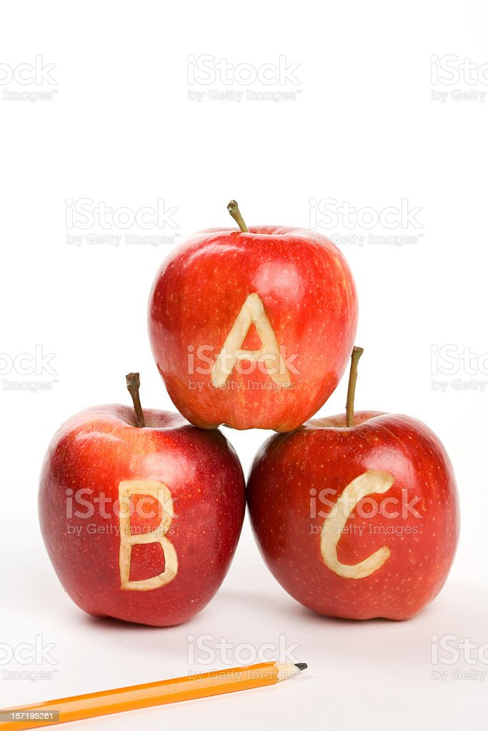 ABC Apples royalty-free stock photo