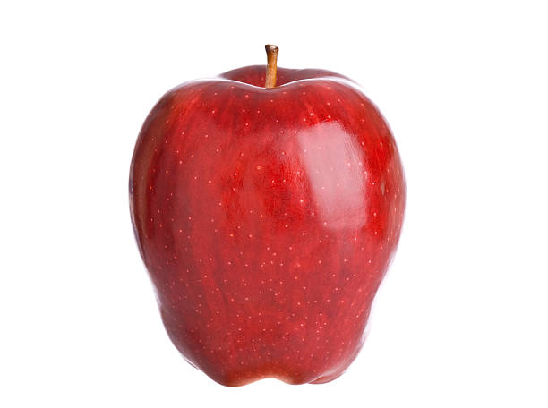 Apples (XL) A beautiful red apple on white.PLEASE CLICK ON THE IMAGE BELOW TO SEE MORE FOOD RELATED IMAGES IN MY PORTFOLIO: red delicious apple stock pictures, royalty-free photos & images