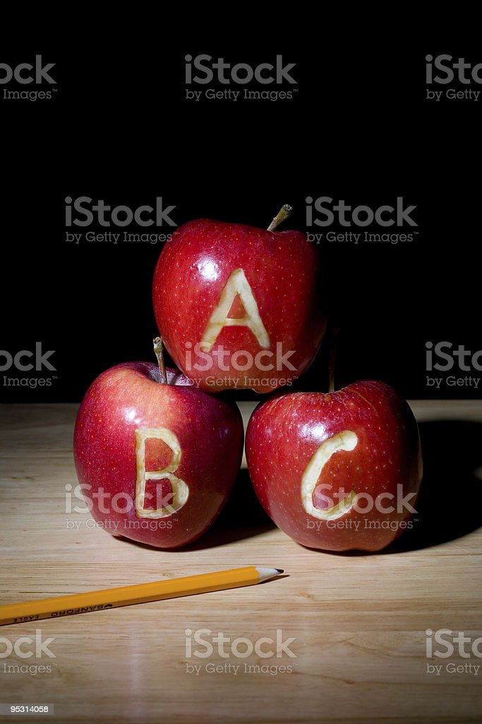ABC Apples stock photo