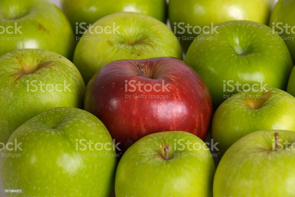 Apples red and Green royalty-free stock photo