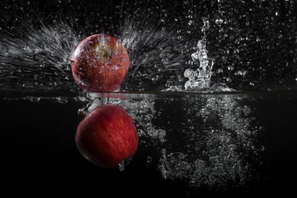 Apples - Water Splash stock photo