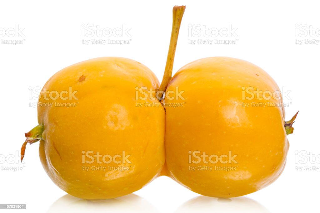 Apples with interesting deformations stock photo