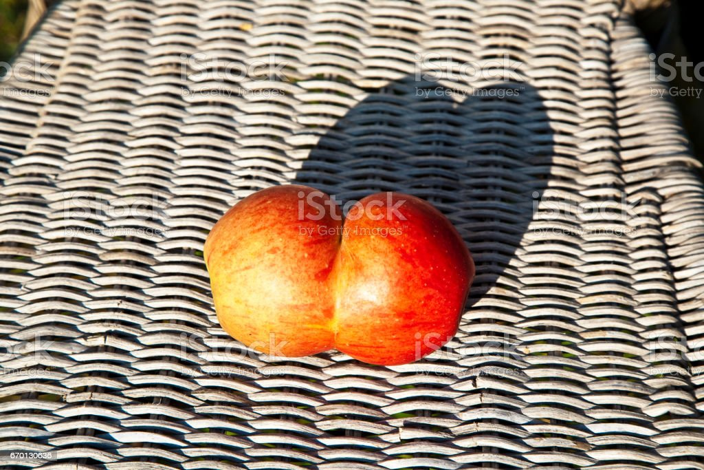 apples with interresting deformations give fantasy a chance stock photo