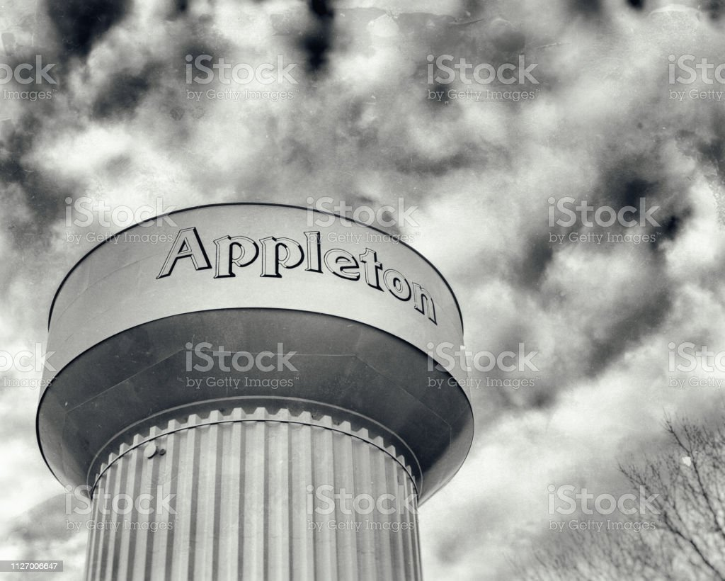 Appleton Wisconsin Water Tower stock photo