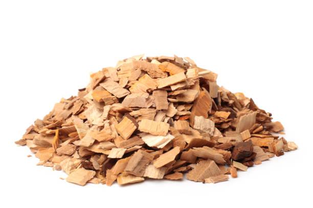 Apple-tree wood chips stock photo