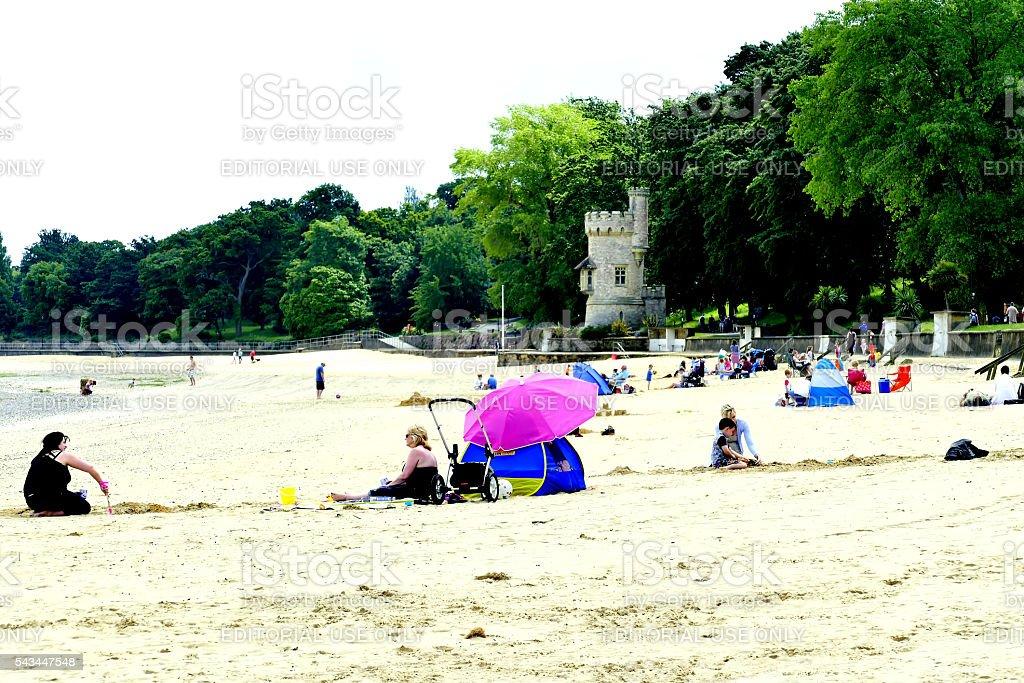 Appley Beach. stock photo