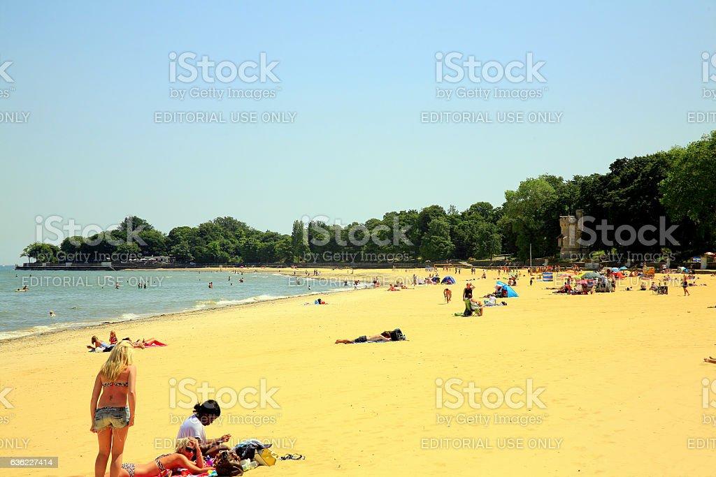 Appley beach, Ryde, Isle of Wight. stock photo