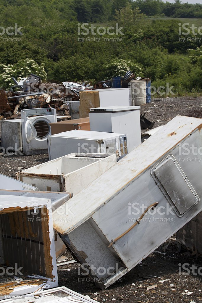 Appliances at the landfill royalty-free stock photo