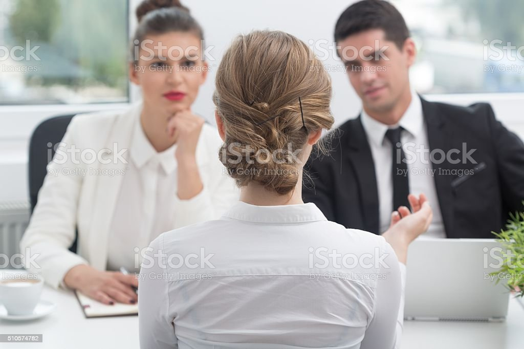 Applicant and recruitment procedure stock photo
