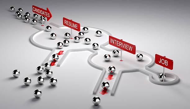 Applicants Recruitment Process - foto stock