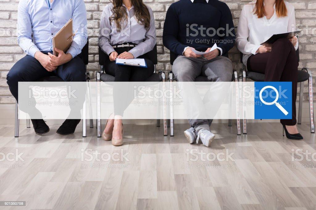 Bewerber für Vorstellungsgespräch warten – Foto