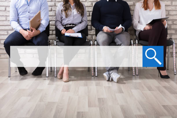 applicants waiting for job interview - job search stock photos and pictures