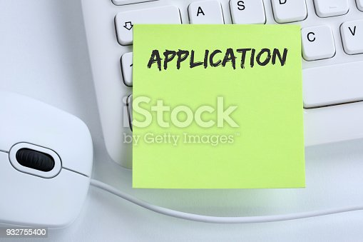 587228412istockphoto Application apply jobs, job working recruitment employees business concept mouse 932755400