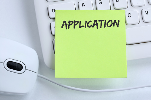 587228412 istock photo Application apply jobs, job working recruitment employees business concept mouse 932755400