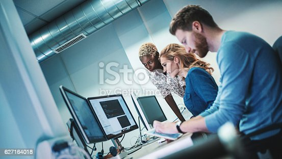 istock Application developers at work. 627164018