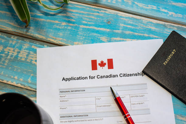Application for Canadian citizenship stock photo