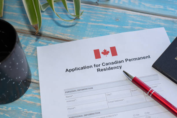 Application for Canadian permanent residency stock photo