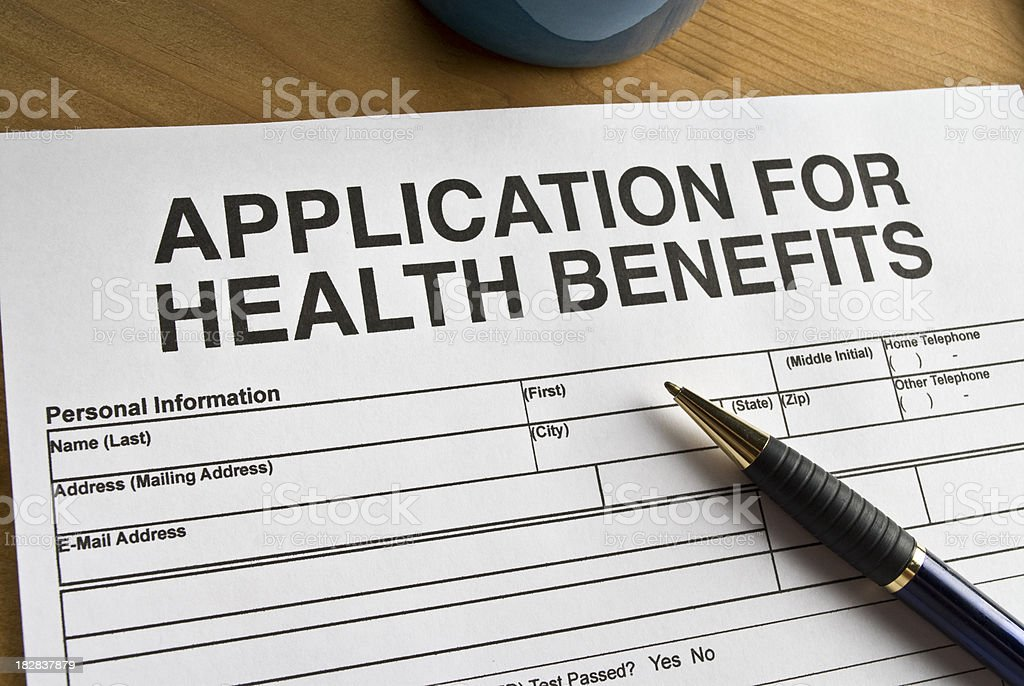 Application for Health Benefits royalty-free stock photo