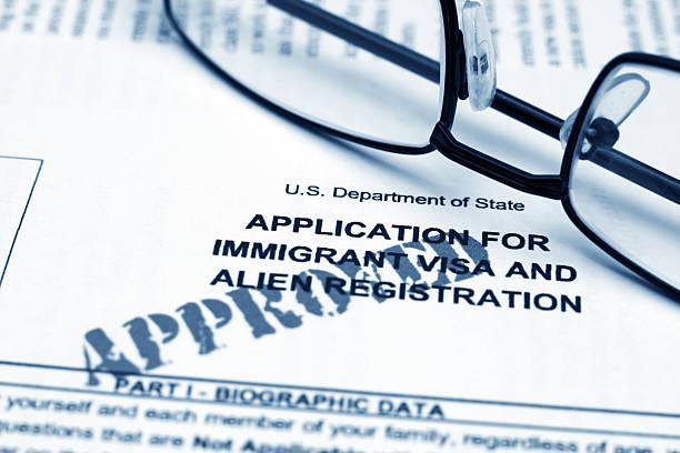 Anwendung für immigrant visa – Foto