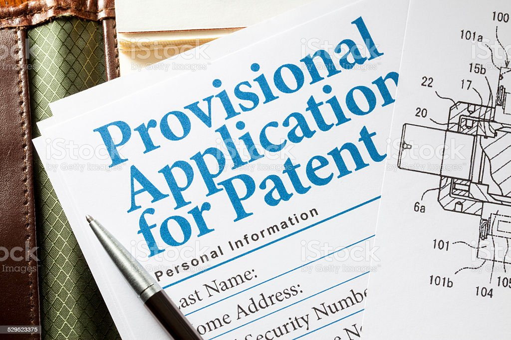 Application for patent stock photo