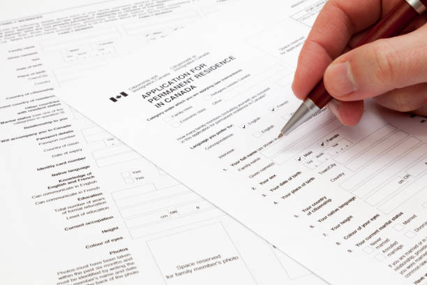 Application for Permanent residence in Canada stock photo