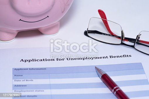 1217929357 istock photo Application for unemployment benefits 1217929357