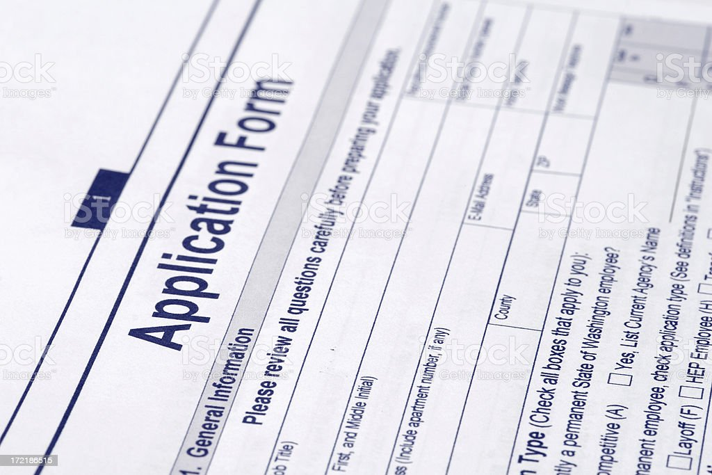 application form royalty-free stock photo
