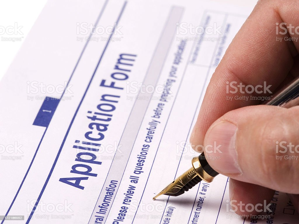 application form stock photo