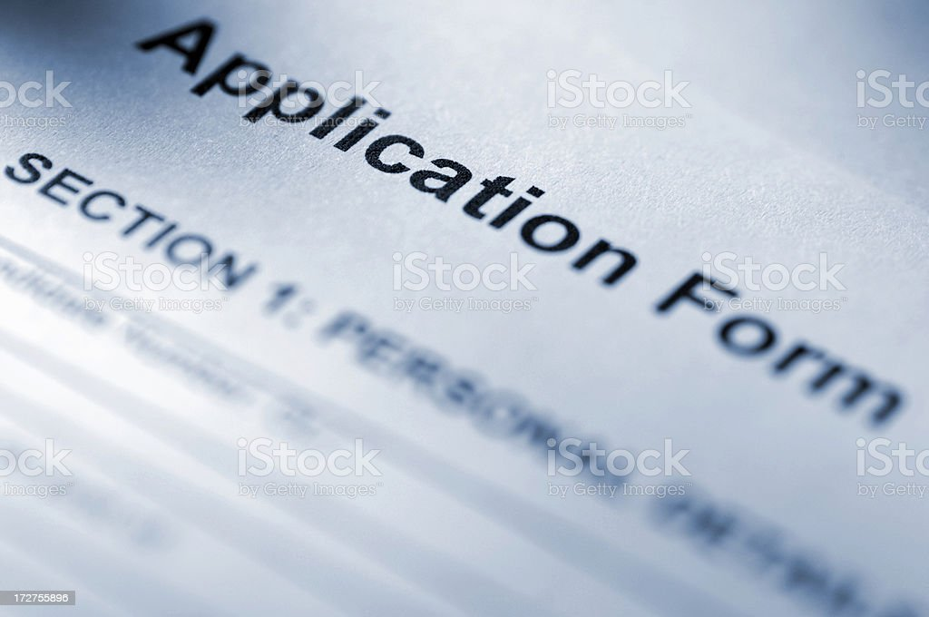 application form series stock photo