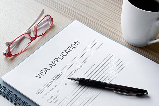 application form visa stock photo