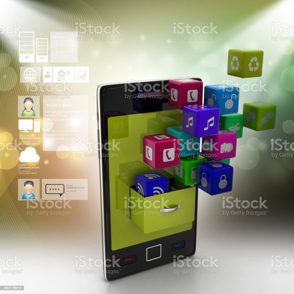 application icon concept royalty-free stock photo