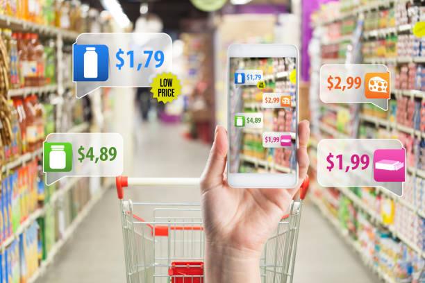 Anwendung von Augmented Reality im Supermarkt – Foto
