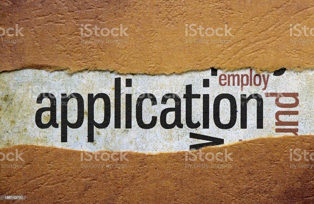 Application royalty-free stock photo
