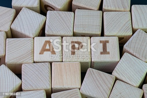 1088363766 istock photo Application Programming Interface (API) middleware for applications to communicate with another concept, cube wooden block with alphabet combine the word API on black chalkboard background 1167364401