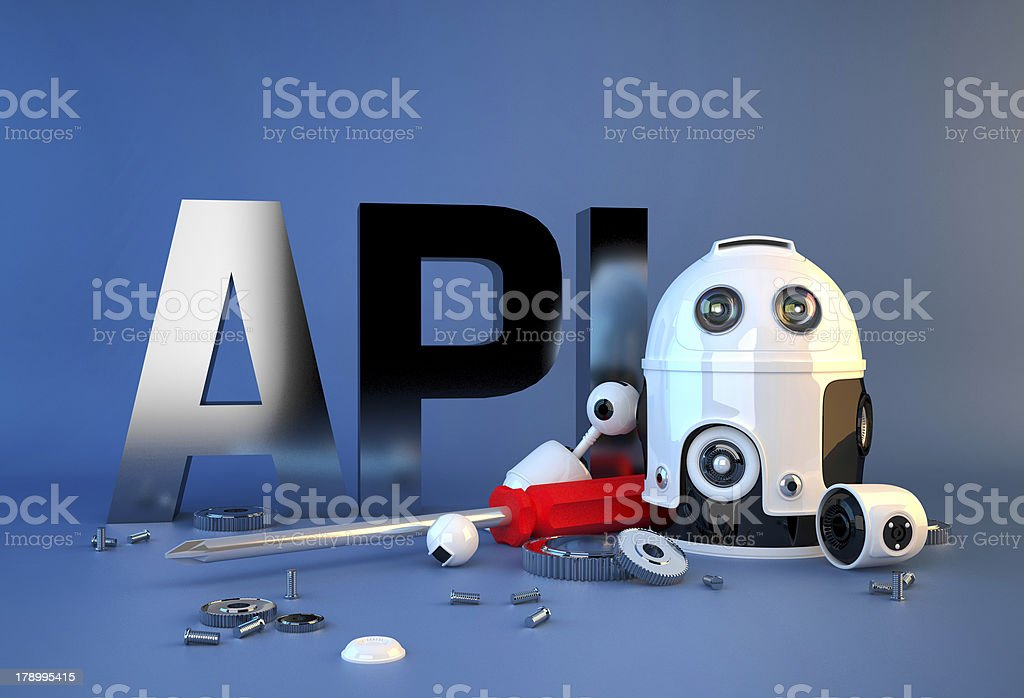 Application programming interface sign royalty-free stock photo
