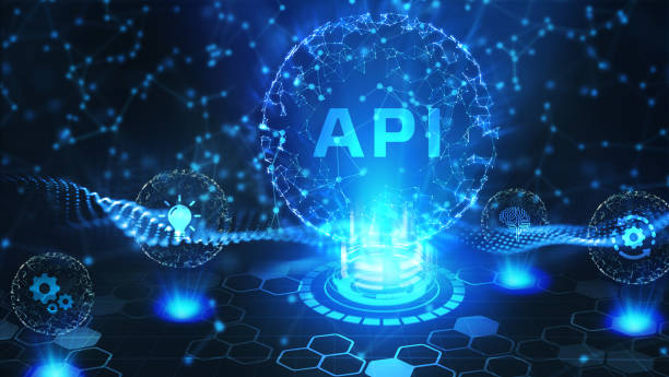 API - Application Programming Interface. Software development tool. Business, modern technology, internet and networking concept stock photo