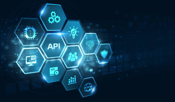 API - Application Programming Interface. Software development tool. Business, modern technology, internet and networking concept. stock photo