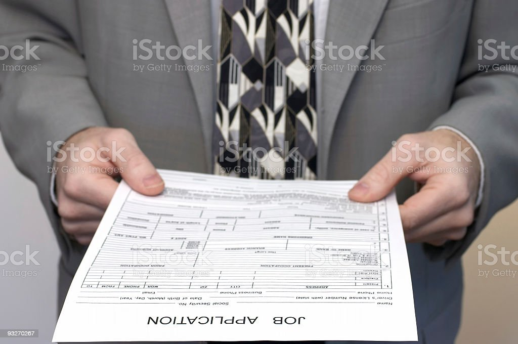 Appliction - Job #1 royalty-free stock photo