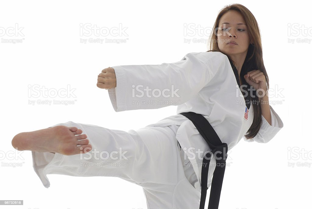 Applied martial arts learning royalty-free stock photo