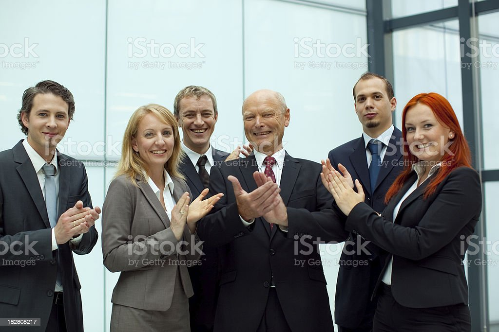applouding business team royalty-free stock photo