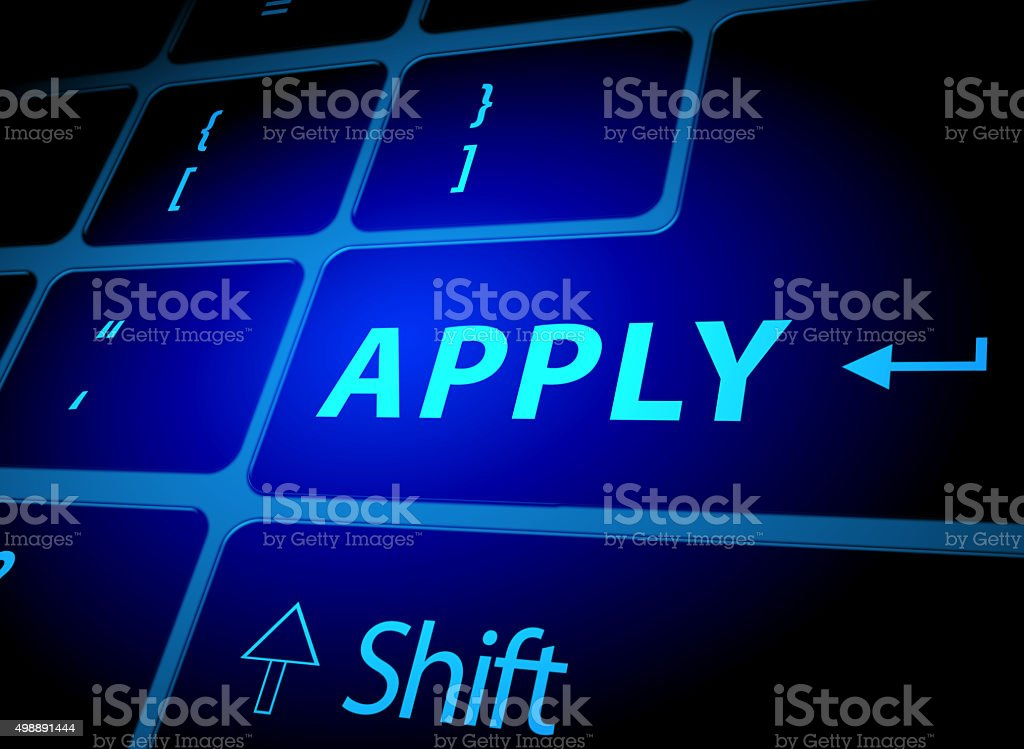 Apply button on computer keyboard stock photo