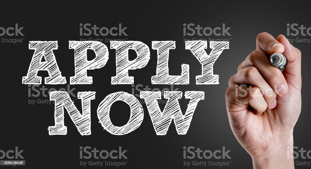 Apply Now stock photo