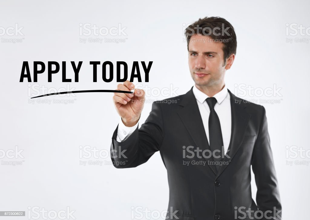 Apply today stock photo