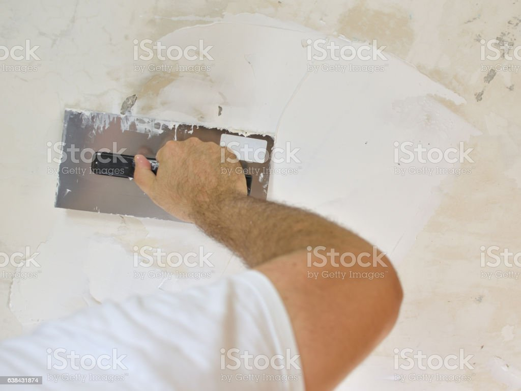 Applying a Smooth Compound stock photo
