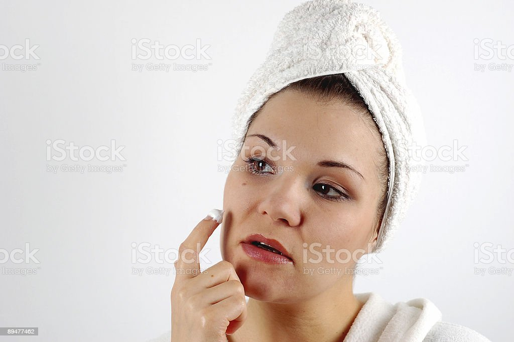 applying cream #2 royalty-free stock photo