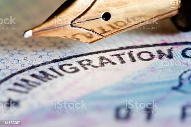 Beantragung Eines Visums Stockfoto und mehr Bilder von Abmachung